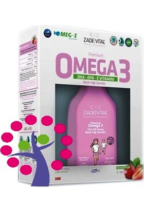 Zade Vital Omega3 Şurup 200 Ml Çilek Aromalı
