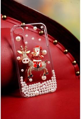 Bonalodi Noel Baba Uğurlu Sene Taşlı Geyik Apple iPhone 5 Telefon Kapağı