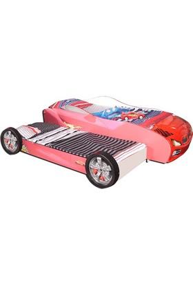 Mobika Arabalı Yatak - 3D Yavrulu - Kırmızı