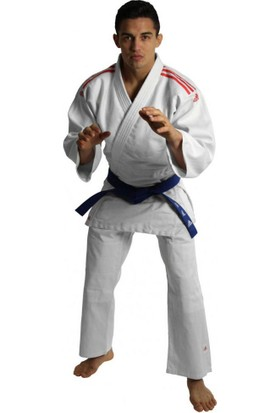 Adidas J350 Club Judo Elbisesi Kırmızı Şeritli