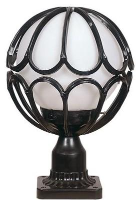Potaş Dış Mekan 25 Lik Polietilen Gloplu Döküm Meridyen Set Üstü Siyah (25x40 cm)