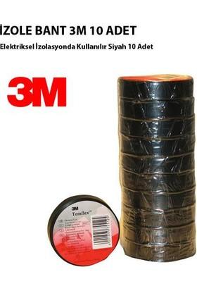 Tvet Elektrik İzole Bant 3M Siyah Üst Kalite 10 Lu