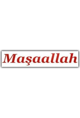 Tvet Maşaallah Oto Yazısı Stickeri (27,5Cm * 4,5Cm)