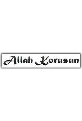 Tvet Allah Korusun Araç Yazısı (30Cm * 3,5Cm)