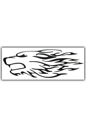 Tvet Kurt Alev Araba Oto Sticker 1 Takım 2 Adet ( 8Cm * 20Cm )