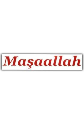 Tvet Maşaallah Yazı Araba Oto Sticker Büyük ( 10Cm * 57Cm )