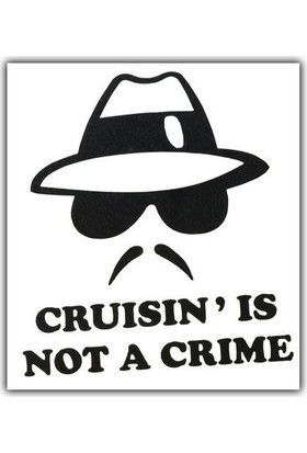 Tvet Not A Crime Yazı Araba Oto Sticker ( 9Cm * 11Cm )