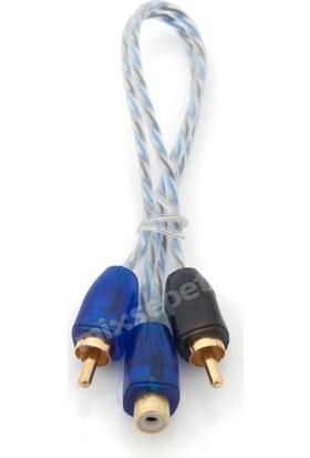 Tvet Pilippo Pı-2Fm Y Kablo 2 Erkek 1 Dişi Rca Kablo