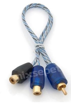 Tvet Pilippo Pı-2Mf Y Kablo 1 Erkek 2 Dişi Rca Kablo