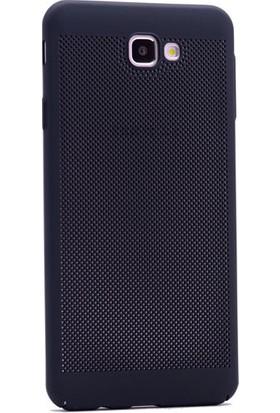 Case 4U Samsung Galaxy J5 Prime Kılıf Sert Delikli Tasarım Siyah