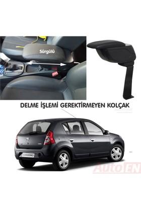 AutoEN Dacia Sandero 2008-2012 Kol Dayama Kolçak Siyah Delme Yok!