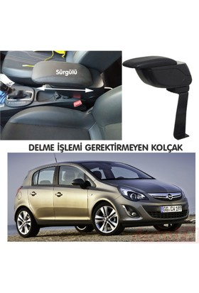 AutoEN Opel Corsa D 2007-2014 Kol Dayama Kolçak Siyah Delme Yok!
