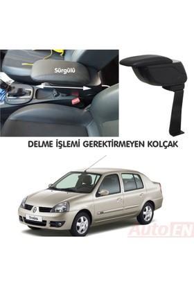 AutoEN Renault Clio 2 Sedan 1999-2005 Kol Dayama Kolçak Siyah Delme Yok!