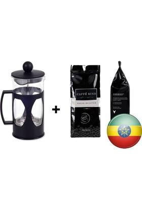 Caffe Rino Etiyopya Yöresel Filtre Kahve 250 gr + French Press 350ml