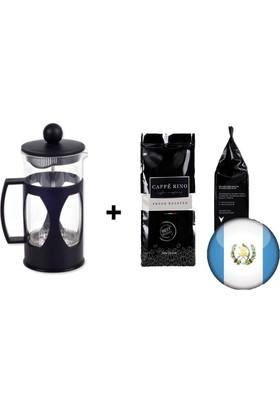 Caffe Rino Guatemala Yöresel Filtre Kahve 250 gr + French Press 350ml