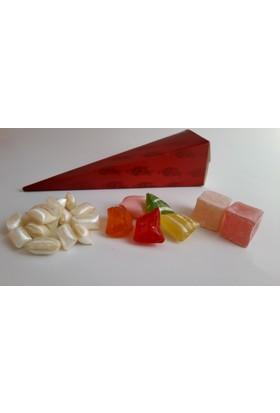 Esra Lokum Mevlüt Şekeri Külah Kırmızı Lale Desenli