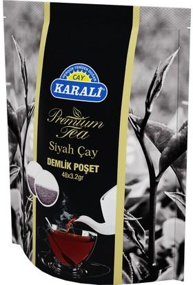Karali Premium Demlik Poşet Siyah Çay 48x3,2 gr + Paşabahçe Saklama Kabı Hediye