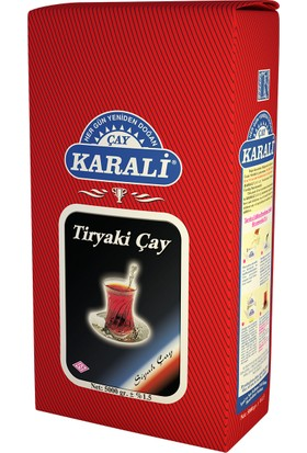 Karali Tiryaki Siyah Çay 5 kg + 2 adet 48'li Demlik Poşet Hediye