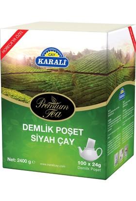 Karali Premium Demlik Poşet Siyah Çay 100x24gr + Paşabahçe Saklama Kabı Hediye