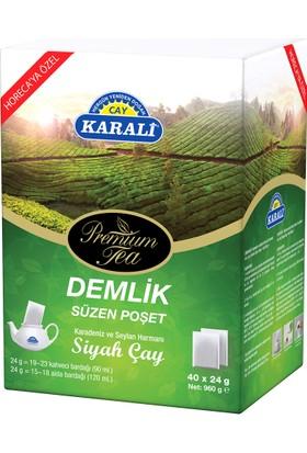 Karali Premium Demlik Poşet Siyah Çay 40x24gr