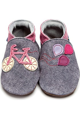 İnch Blue Hakiki Deriden Patik Bike Denim Pink