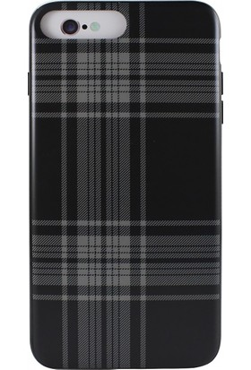 Sulada Apple iPhone 7 Plus Çizgili Kare Desenli Silikon Kılıf