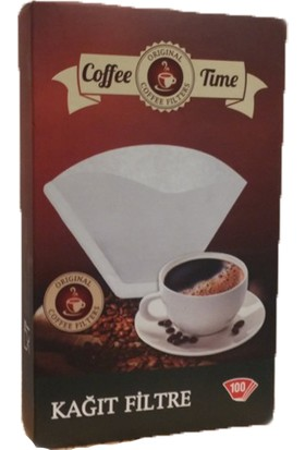 Coffee Time 1X2 Kahve Filtre Kağıdı 100X2 Toplamda 200 Adet