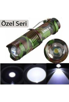 Cree Komanda Özel Seri Ultra Güçlü Şarjlı El Feneri 2000 Lümen