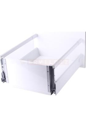 Blum Antaro 50 Cm Gri Tek Bordürlü Çekmece Ray