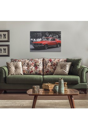 Decotime Ford Mustang Led Işıklı Tablo 50X70 Cm