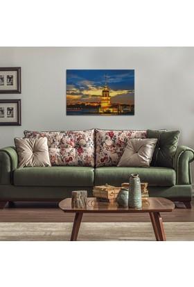 Decotime Kız Kulesi Led Işıklı Tablo 50X70 Cm