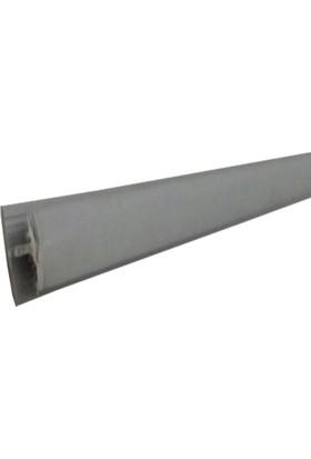 Eryıldız H Profil Plastik 8 mm Gri