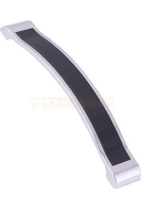 Metax Kida 160 mm Krom Siyah Mobilya Kulp