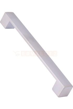 Metax Te Kare 128 mm İnox Mobilya Kulp