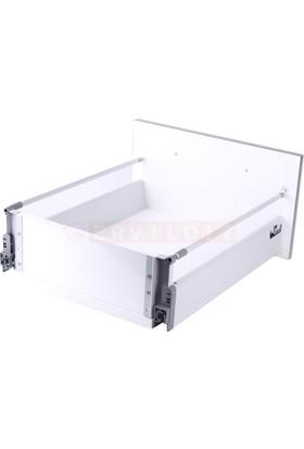 Samet Smart Box 45 Cm Tek Bordürlü Gri Çekmece Ray