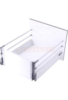 Samet Smart Box 35 Cm Çift Bordürlü Gri Çekmece Ray