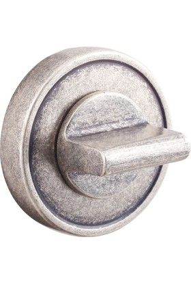 System Osm Mat Gümüş Yuvarlak Çizgili Rozet Kapağı Wc