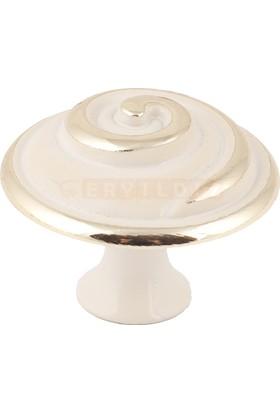 Umut 109 Beyaz Altın Düğme Mobilya Kulp