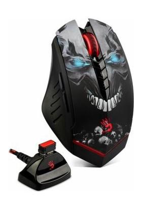 Bloody R80 GHOST LK Optik Multi Core Metal Ayak 4000CPI Şarjlı Kablosuz + Kablolu Oyuncu Mouse