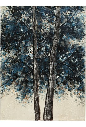 Decosuar Dekoratif Ağaç Desenli Ahşap Çerçeveli Tablo