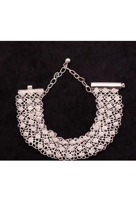 Sümer Telkari Yöresel Akıtma Kişniş Telkari Gümüş Bileklik 642