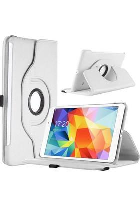 "Miray Samsung Galaxy Tab4 T330 8"" 360° Dönebilen Standlı Tablet Kılıfı Beyaz"