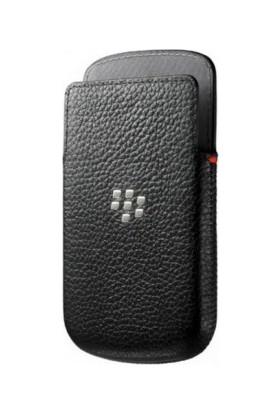 BlackBerry Q10 Pocket Deri Kılıf Siyah