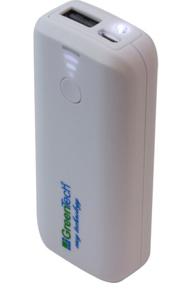 Greentech GT-PB19 Portatif Şarj Cihazı + LED Fener (5.200 mAh)