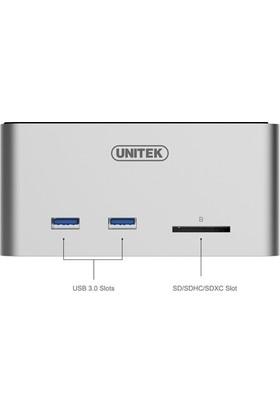 Unitek USB3.0 Çok Fonksiyonlu Dock UASP Fonksiyonu ile (2-Port USB3.0 + SD Kart Okuyucu)
