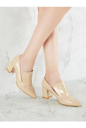 Mecrea Exclusive Manager Ten Rugan Topuklu Ayakkabı
