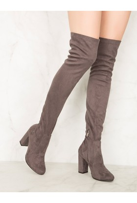 Mecrea Exclusive London Gri Çorap Çizme