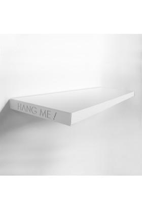 Decortie Hang Me Duvar Rafı 60Cmx23Cm - Beyaz-Beyaz