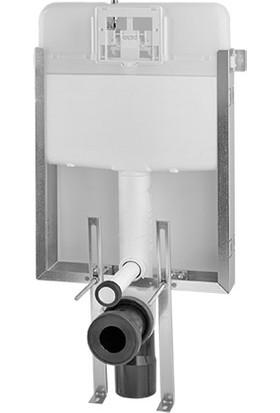 SIAMP® MANNESMANN Gömme Rezervuar - Verso 80 TD (8 cm'lik Tuğla Kalınlığı için Özel Üretim) - 3/6 Litre