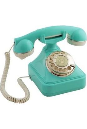 Anna Bell Turkuaz Gümüş Çevirmeli Klasik Telefon